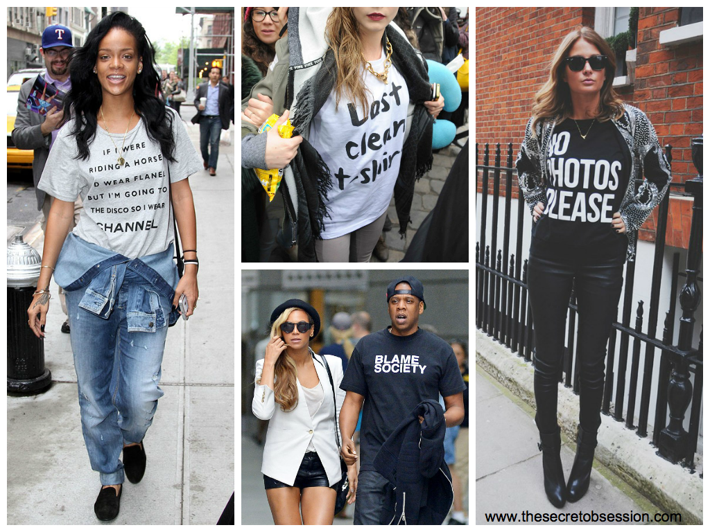 226054b4 2014 has gone mad for the Slogan Tee. A t-shirt with the coolest saying or  logo is an automatic SS14 wardrobe update. A human billboard?