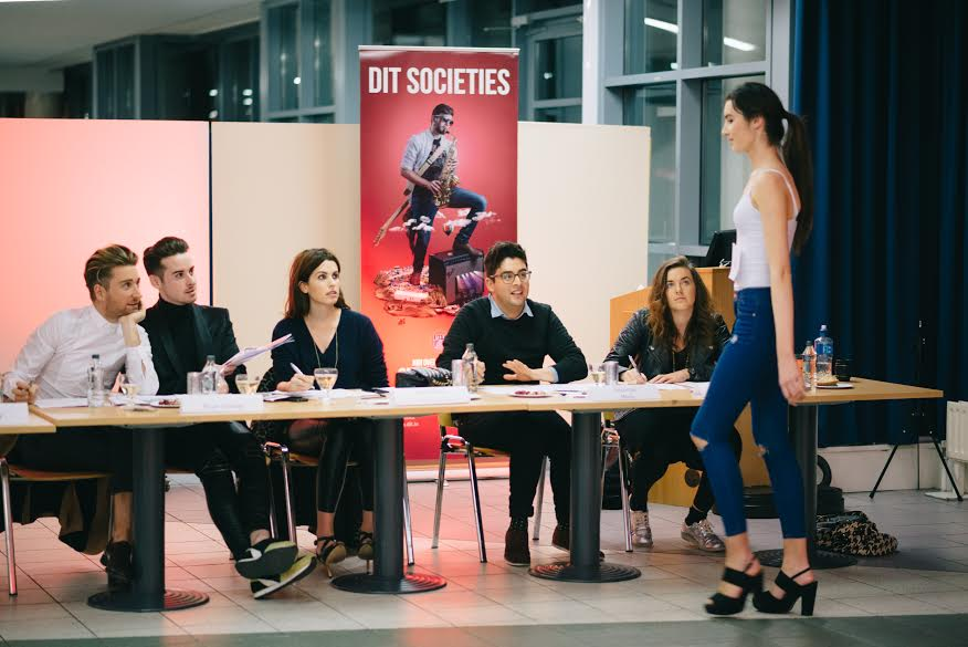 Over 100 students attended The DIT Fashion Show Model Castings with guest judges' Holly White, Xposé stylist and presenter, stylist Brian Conway, leading men's fashion blogger and Rob Kenny